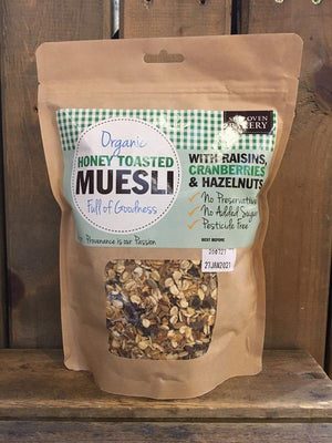 Load image into Gallery viewer, Side Oven Organic Honey Toasted Muesli with Raisins, Hazelnuts & Cranberries
