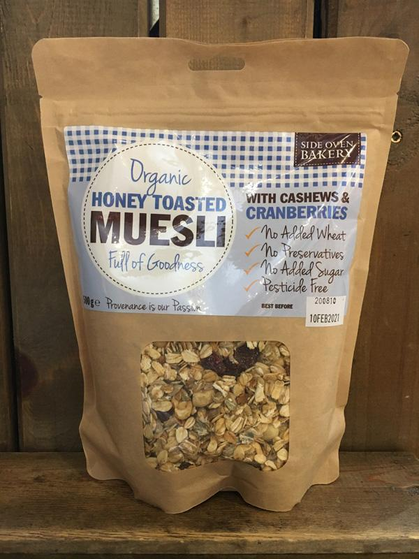 Side Oven Organic Honey Toasted Muesli with Cashews & Cranberries