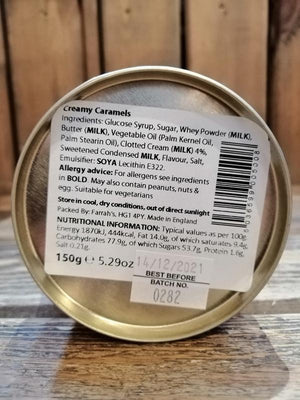Load image into Gallery viewer, Farrah's Creamy Caramel Tin 150g