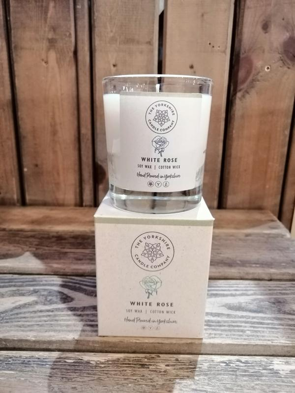 Yorkshire Candle Company - Glass Tumbler Candles: White Rose