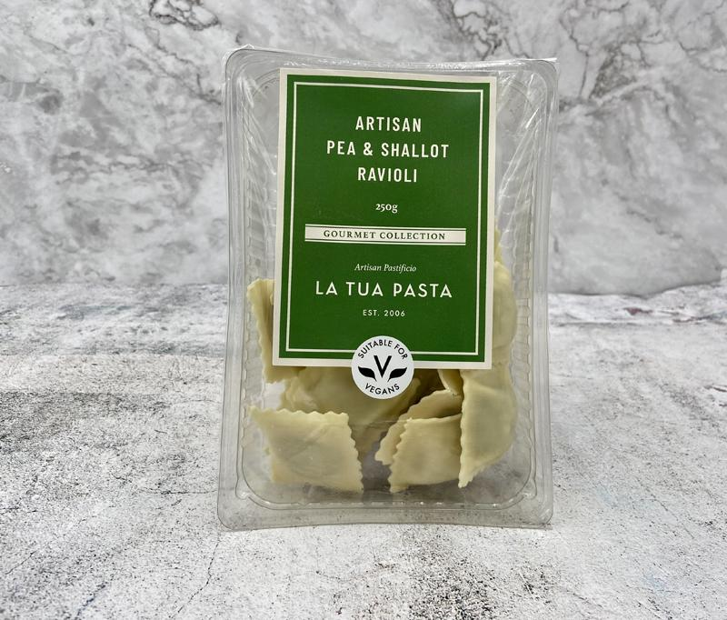 Load image into Gallery viewer, La Tua Ravioli Pea & Shallot Vegan