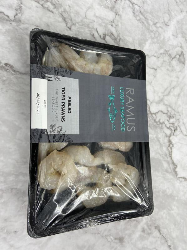Ramus Raw Peeled Tiger Prawns 200g