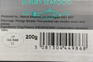 Load image into Gallery viewer, Ramus Raw Peeled Tiger Prawns 200g