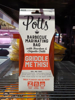 Potts - BBQ Marinating Bag with Bourbon & Chipotle Chilli 150g