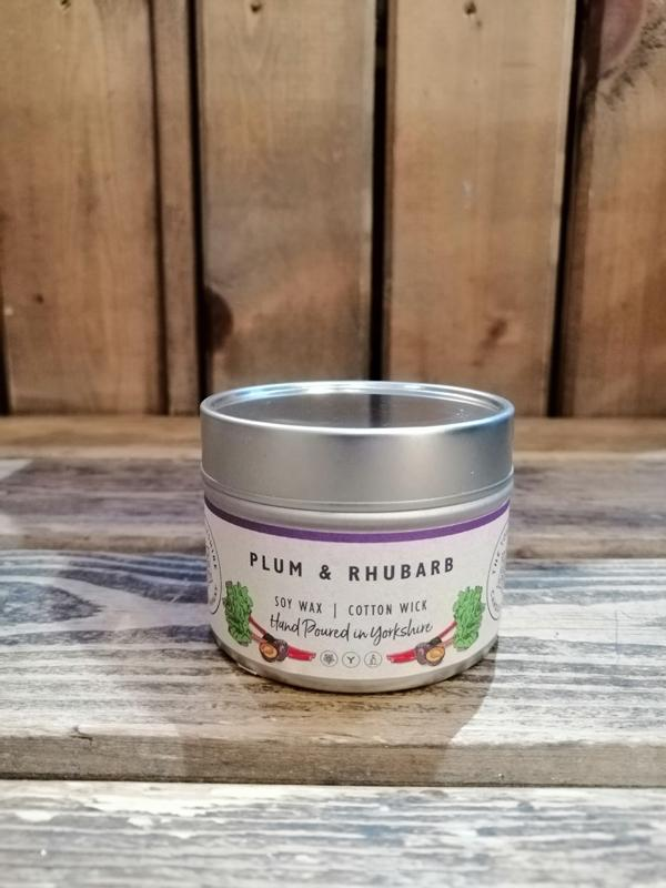 Yorkshire Candle Company - Small Tin Candle: Plum & Rhubarb
