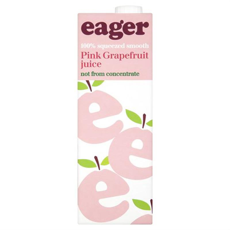 Eager 100% Squeezed Pink Grapefruit Juice 1 Litre