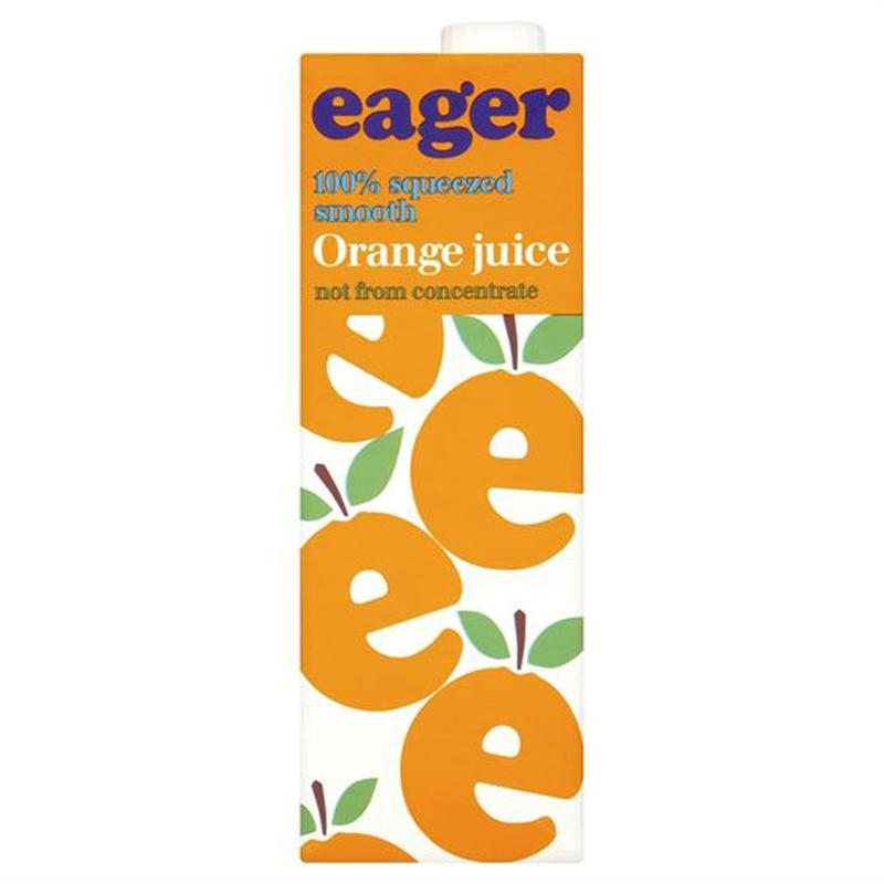 Eager 100% Squeezed Smooth Orange Juice 1 Litre