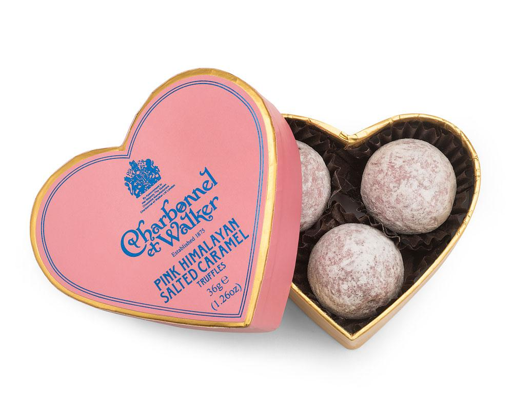 Charbonnel - Pink Himalayan Salted Caramel Truffles 35g