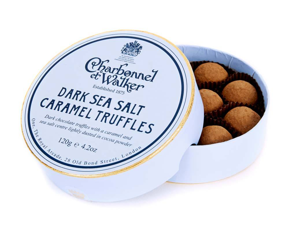 Charbonnel - Dark Sea Salt Caramel Truffles 120g