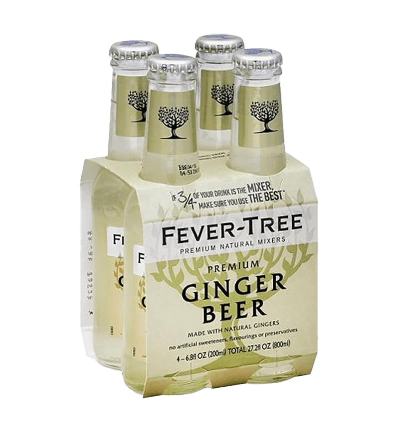 Fever Tree Ginger Beer 200ml 4pk