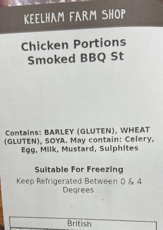 Load image into Gallery viewer, Keelham Chicken Portions - Smoked BBQ 800g