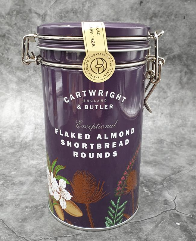 Cartwright & Butler Flaked Almond Shortbread Rounds
