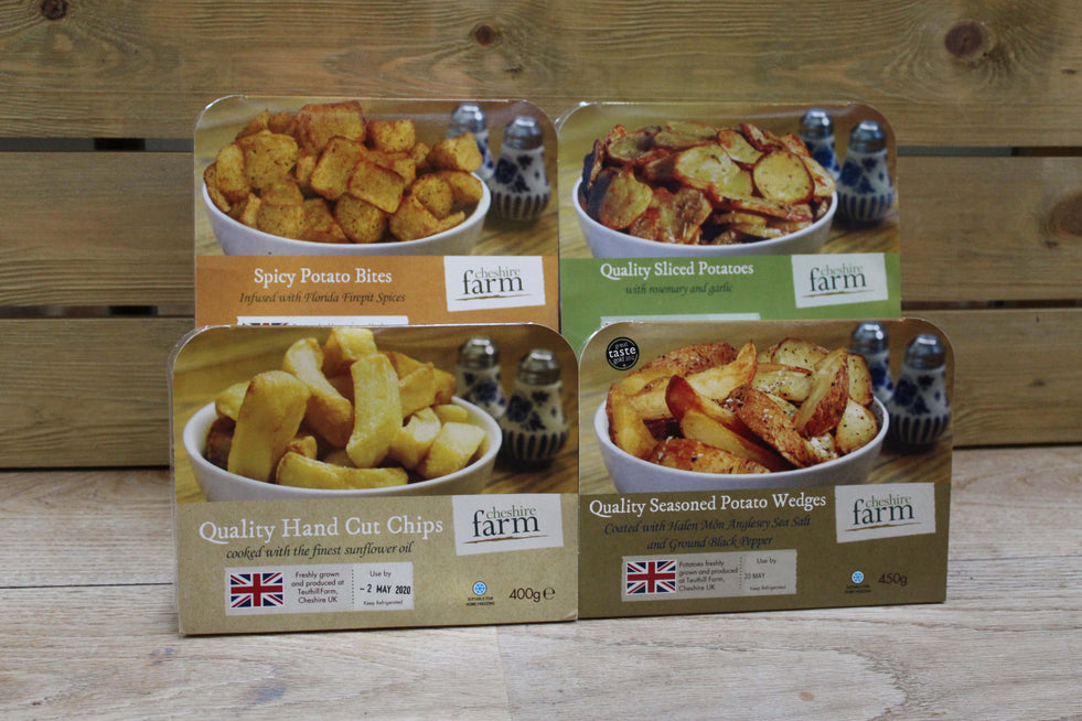 Cheshire Farms - Ready to Cook Chips/Wedges/Spicy Bites/Sliced Potatoes