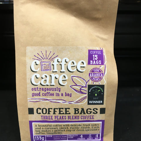 Coffee Care Coffee Bags 15s