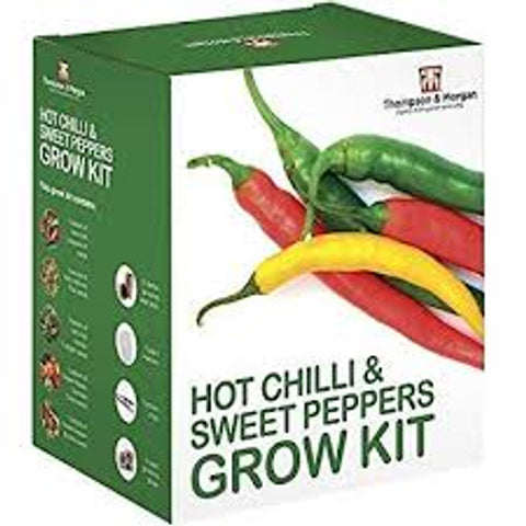 Thompson & Morgan Hot Chillies and Sweet Peppers Grow Kit