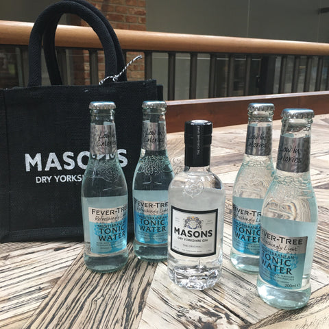 Masons Original Gin & Tonic Pack - 20cl Gin & 4 Fever Tree Tonics 200ml