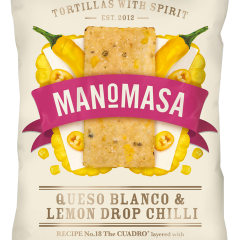 Manomasa Tortilla Chips - Queso Blanco & Lemon Drop Chilli