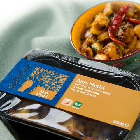 BACK IN STOCK!  Saffron Tree Curry - Aloo Methi