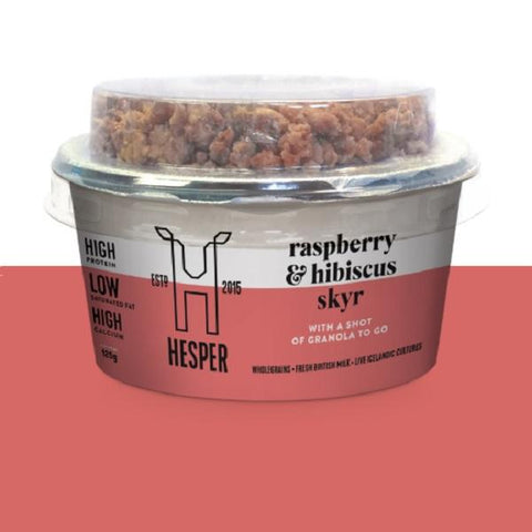 Hesper Skyr Yoghurt & Granola Pot, Raspberry and Hibiscus