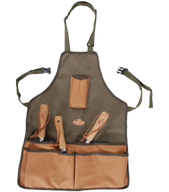 Gardener's Apron - Green and Tan