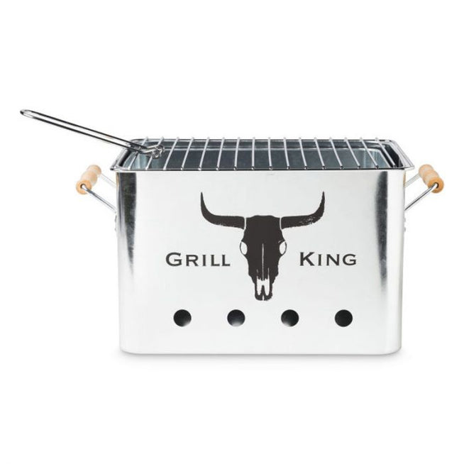 Grill King Portable Charcoal Barbecue