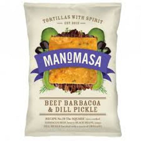 Manomasa Tortilla Chips - Barbacoa & Dill Pickle