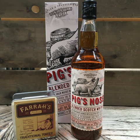 Whisky & Toffee Gift Set (Pig's Nose)