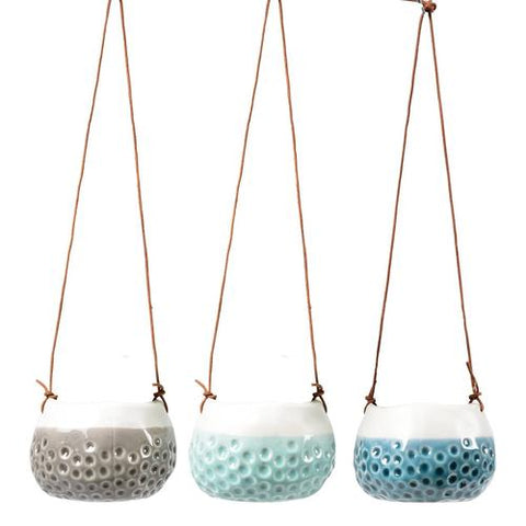 Trio of 'Baby Dotty' Hanging Pots