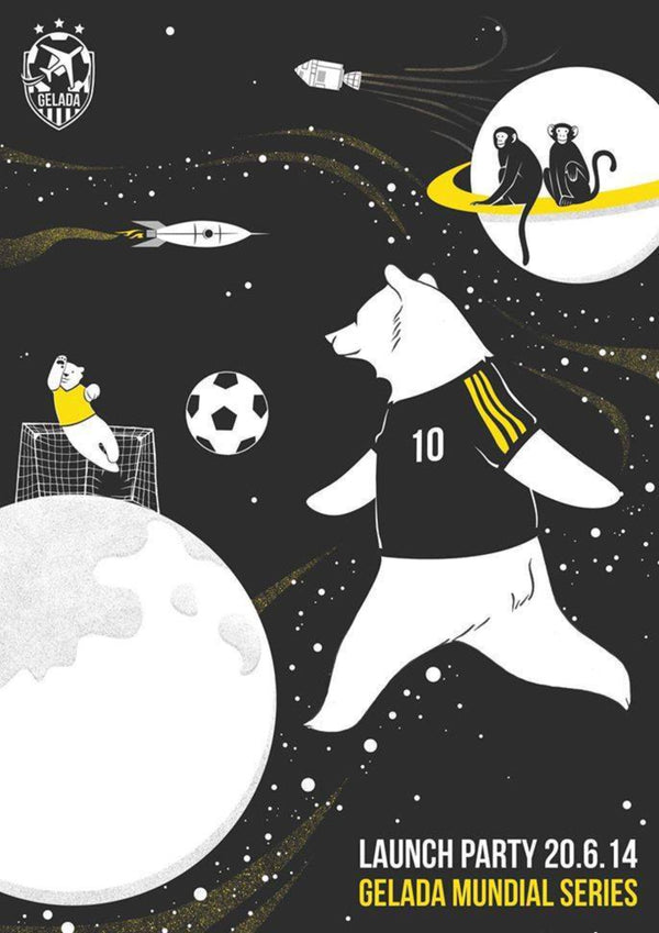 Gelada's Mundial 2014 Launch Party Poster | A3 Original Illustration, Digital Print