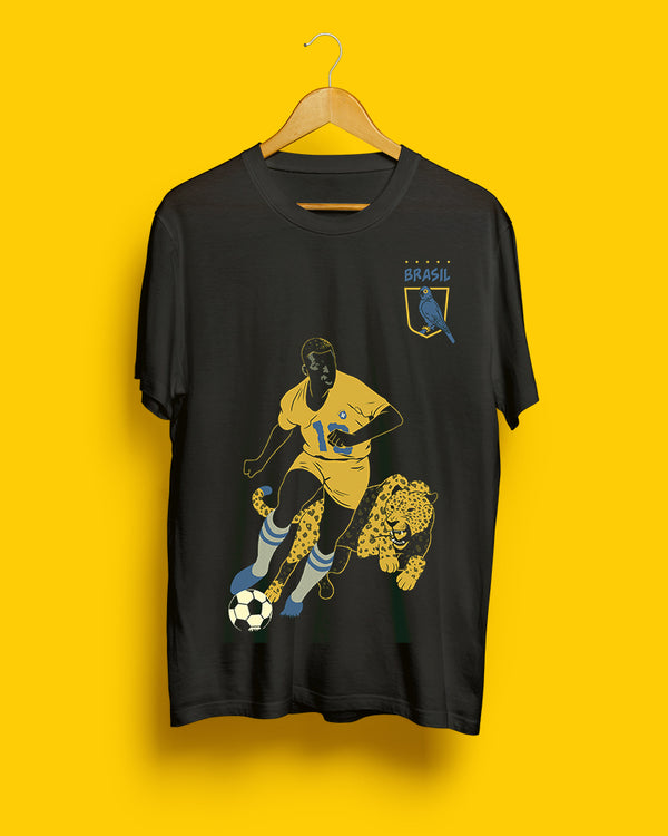 70% OFF FINAL SALE | Pelé, Brazil | Black Steel Unisex T-Shirt