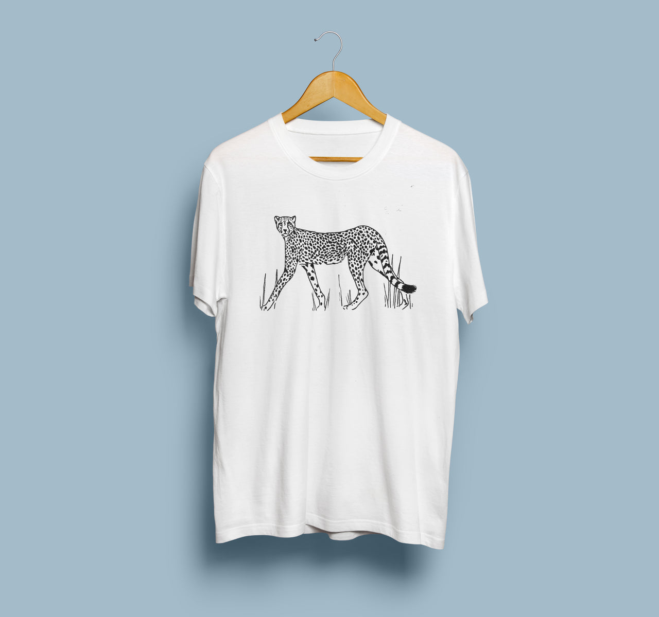 Cheetah Tee by Tamar Bar | White Unisex T-Shirt