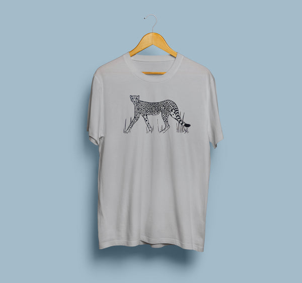 Cheetah Tee | Heather Grey Unisex T-Shirt