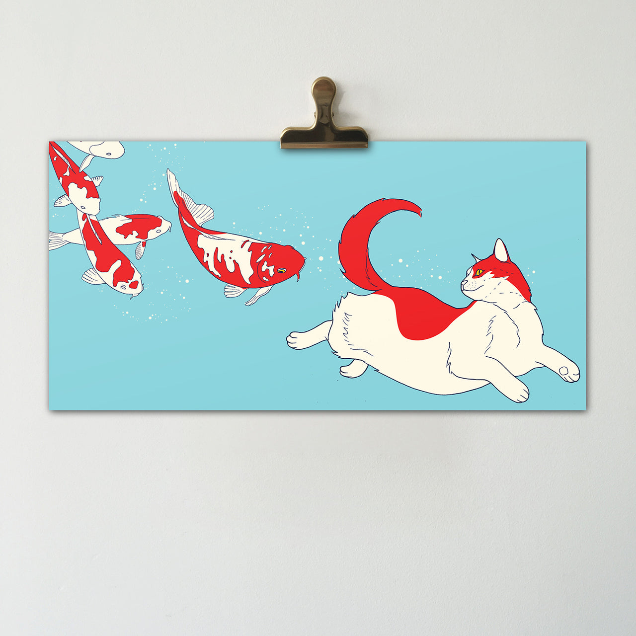 30% OFF SPRING SALE | Space Cats || Original Illustration Poster, Digital Print