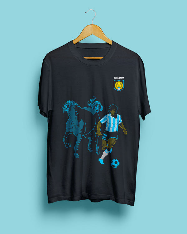 70% OFF FINAL SALE | Diego Maradona, Argentina || Black Steel Unisex T-Shirt