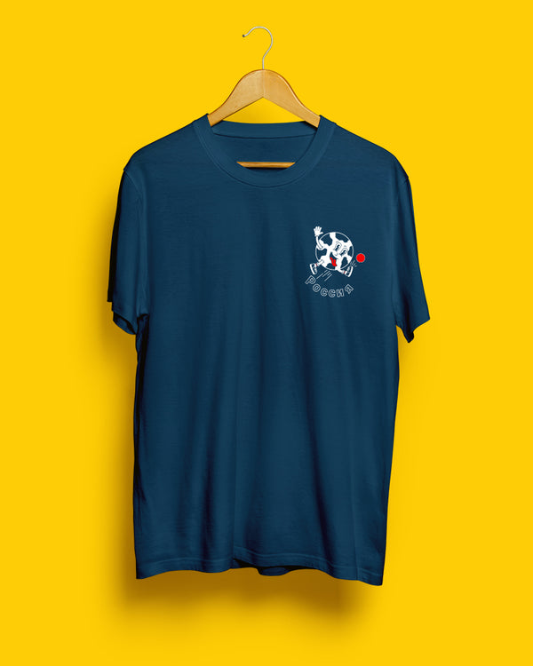 70% OFF FINAL SALE | Russia, Mundial 2018 | Navy Blue Unisex T-Shirt