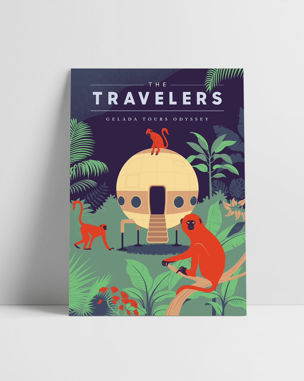 The Travelers | Original Illustration Poster, Digital Print