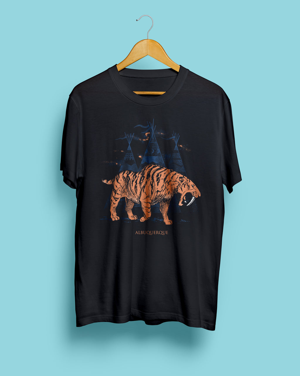 15% OFF SPRING SALE | Sabertooth Black Steel Unisex Tshirt