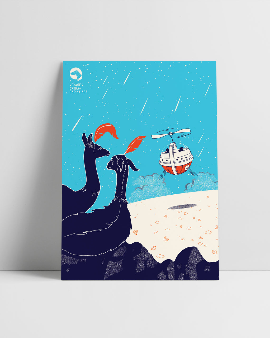 Voyages Extraordinaires || A3 Original Illustration Poster, Digital Print