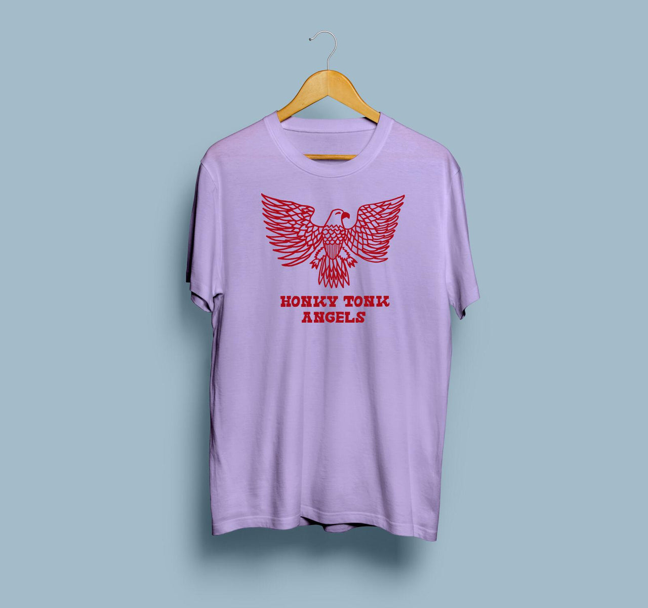 Honky Tonk Angels Eagle of Freedom Tee | Orchid Purple