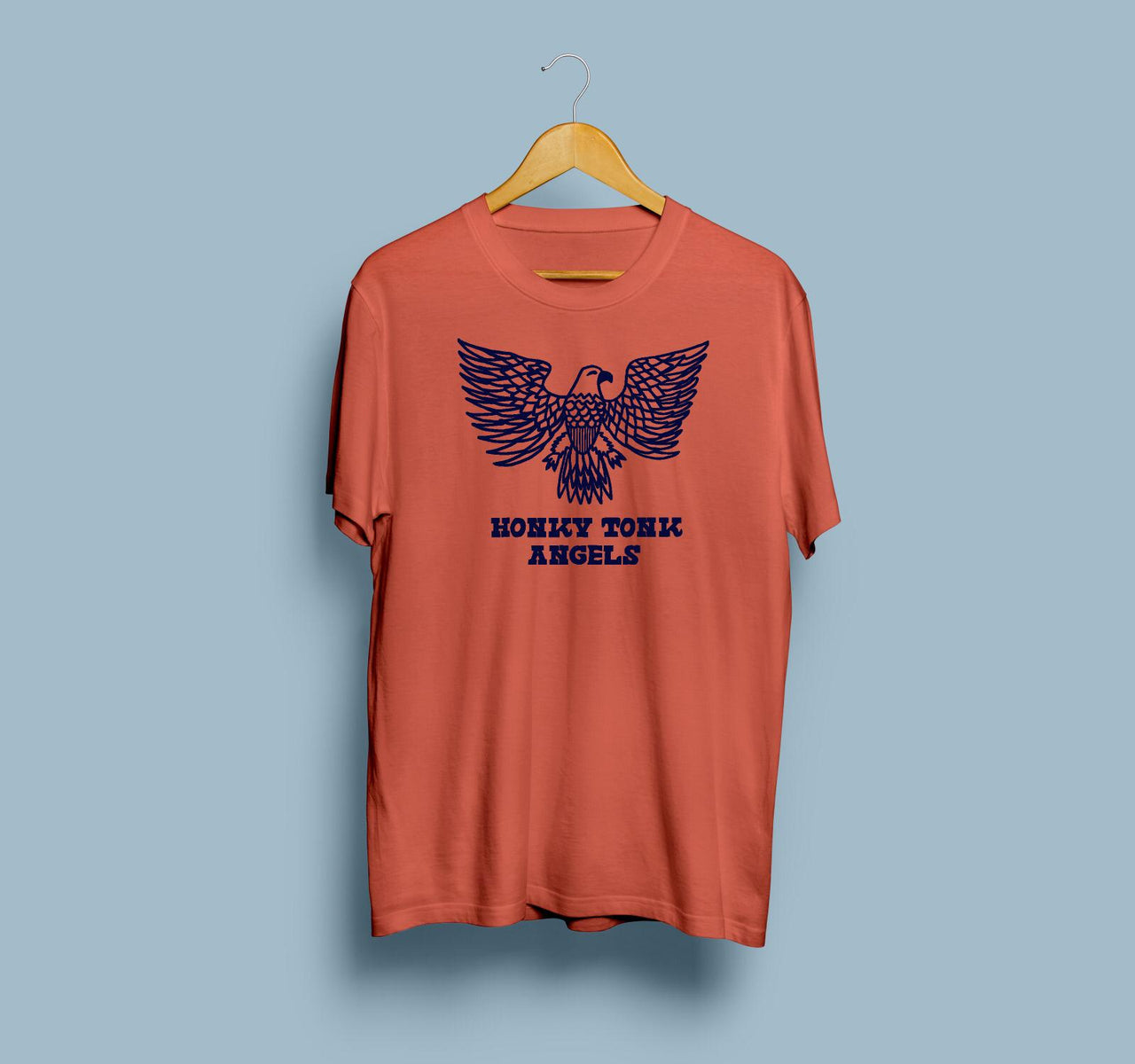 Honky Tonk Angels Eagle of Freedom Tee | Terra Cotta