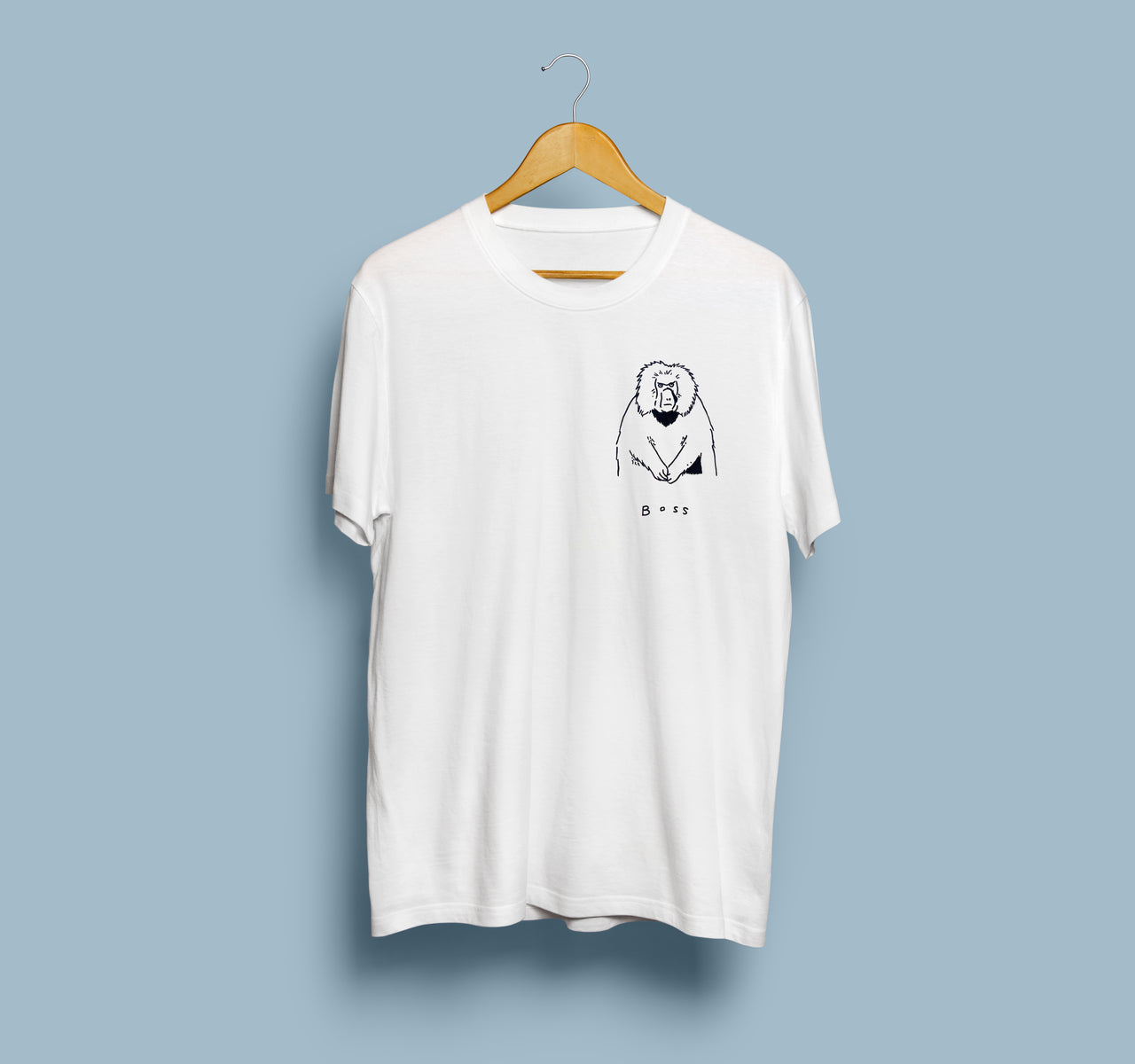 Boss Monkey Tee | White Unisex T-Shirt