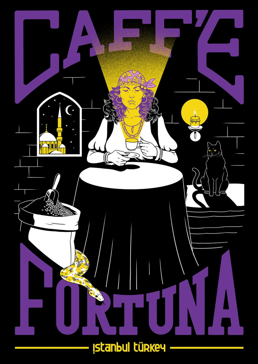 Caffe Fortuna | A3 Original Illustration Poster, Digital Print