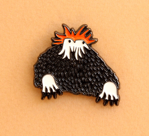 Black Monster Lapel Pin |The Misfortunes by Noa Goffer