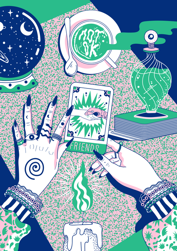 Tarot Cards | A3 Original Illustration Poster | Digital Print