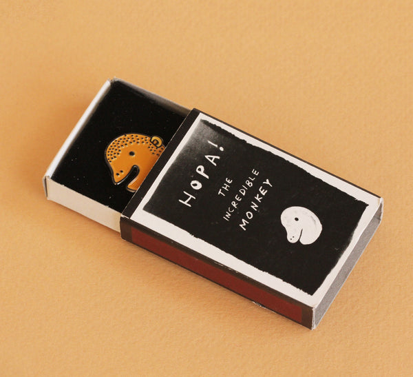 Monkey Enamel Pin |The Misfortunes by Noa Goffer