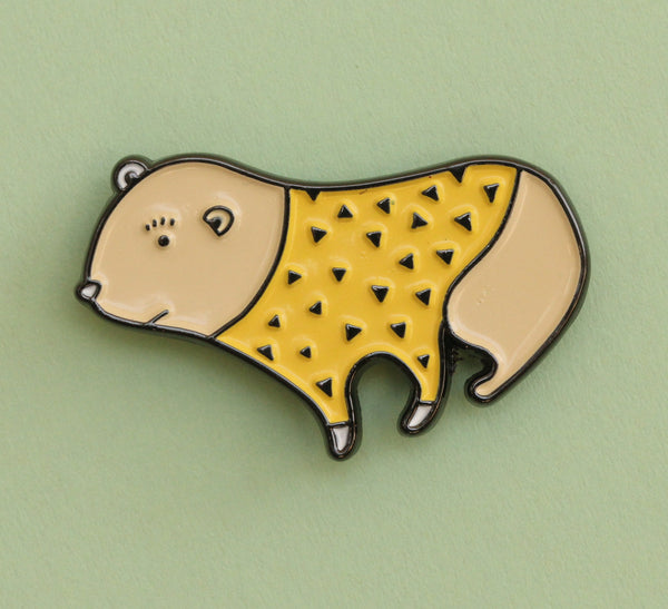 Yellow Bear Lapel Pin | The Misfortunes by Noa Goffer