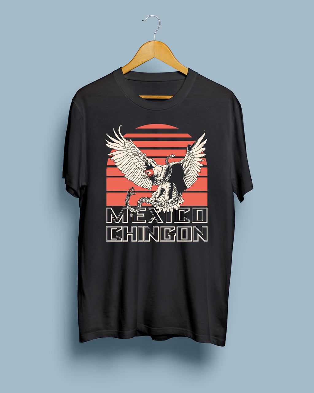 Mexico Chingon Black Steel Unisex T-Shirt