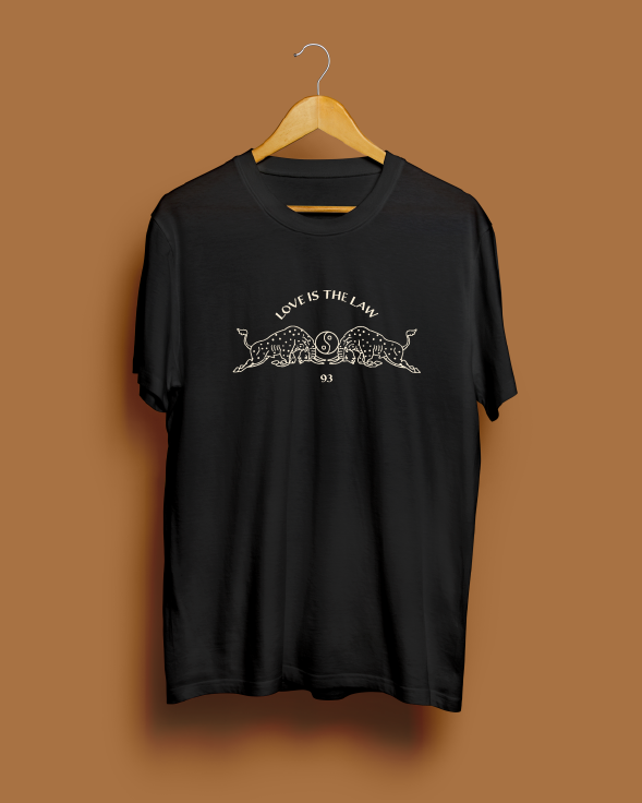 Love Is The Law Black Tee by Magnum Opus