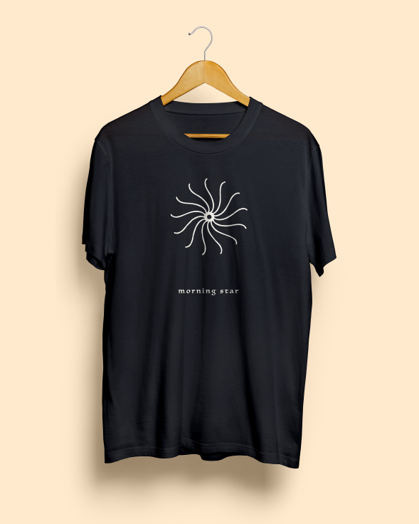 Morning Star Black Unisex Tee by Magnum Opus