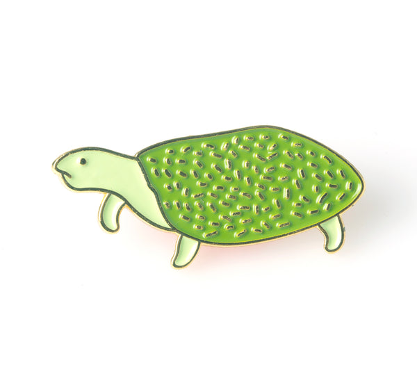 Retirement Gift, Turtle Enamel Pin | The Misfortunes by Noa Goffer